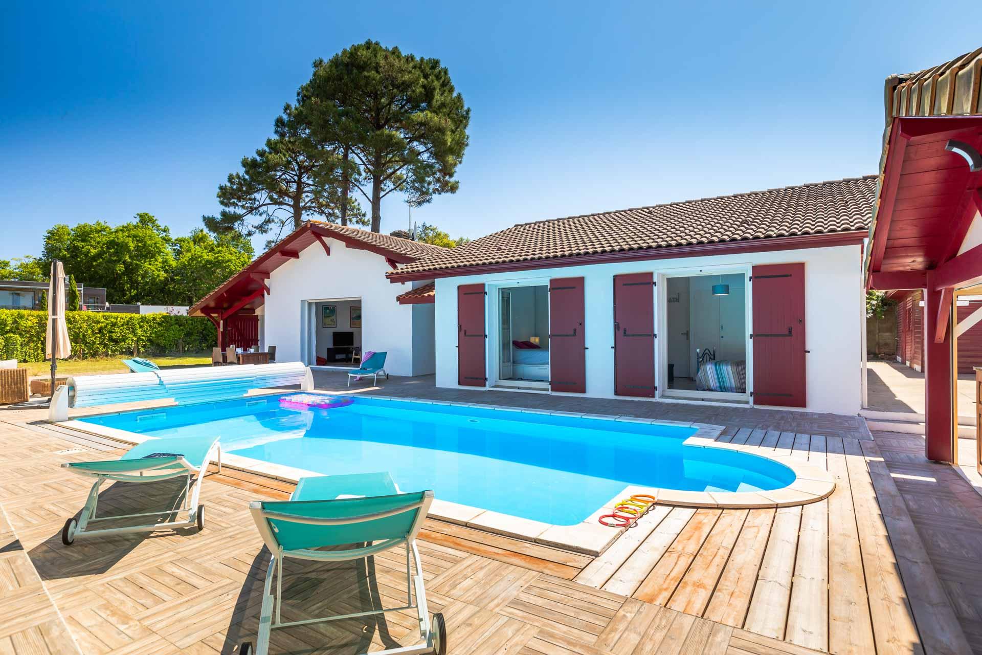 Capbreton calme avec piscine chauff e maison sud ouest - Location maison sud ouest piscine ...