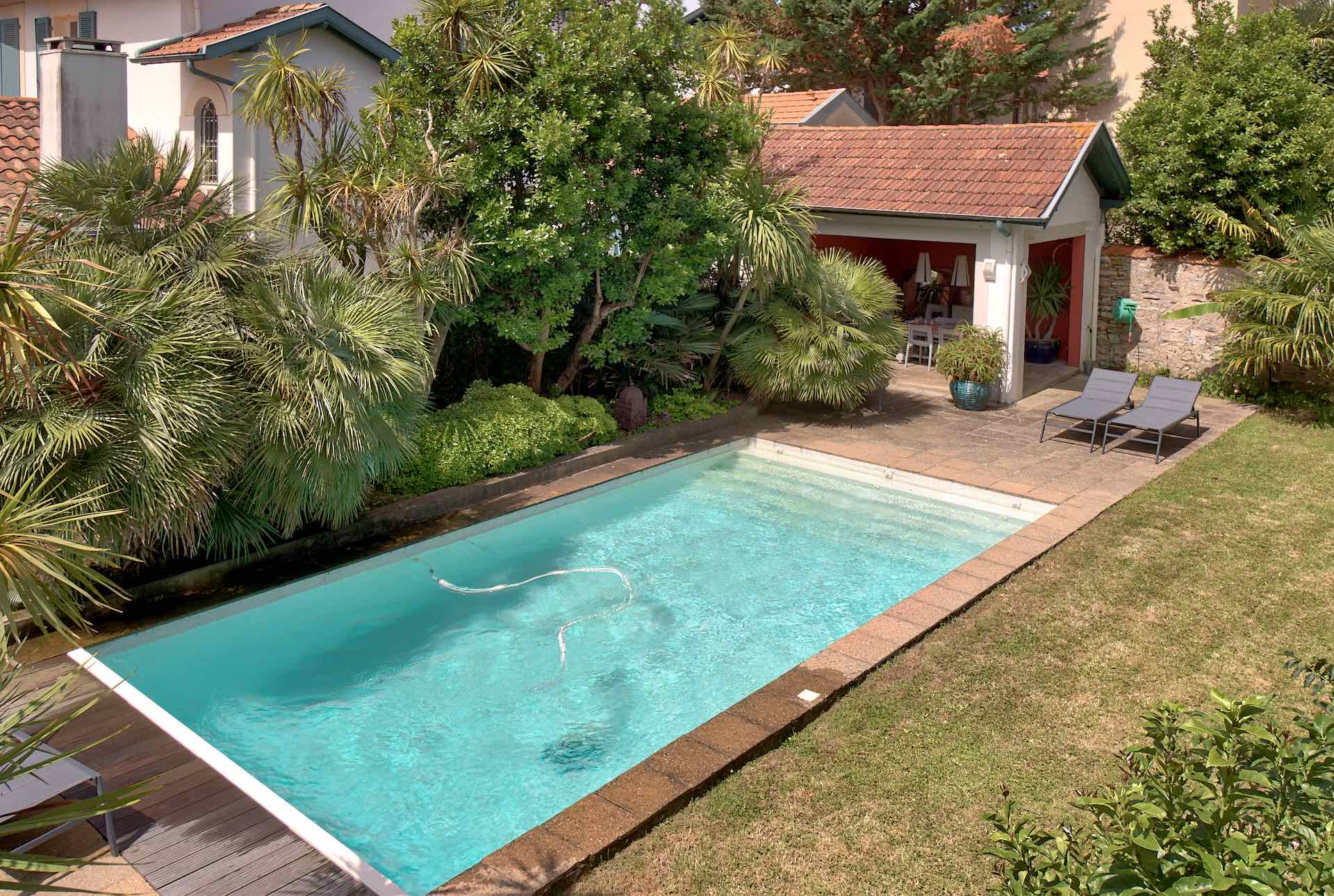 El gante villa ann es 30 en location biarritz piscine - Location maison sud ouest piscine ...